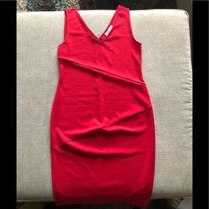 Red Jessica Simpson maternity dress